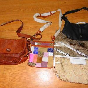lot of 4 coach purses and bag crossbody monogram